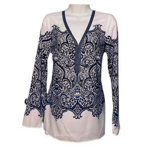 WHBL tunic top long sleeve